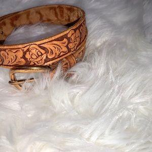 Vintage Disney Characters Tooled Leather Belt